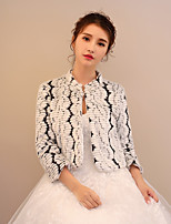 Women's Wrap Shrugs Faux Fur Wedding Party/ Evening Leopard Pattern / Print