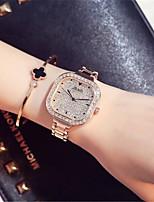 Жен. Модные часы Часы со стразами Кварцевый сплав Группа Блестящие Серебристый металл Золотистый
