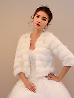 Women's Wrap Shrugs Faux Fur Wedding Party/ Evening Hollow-out