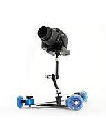 asj slr cámara vídeo carril coche mini escritorio silencioso polea deriva tres ruedas coche