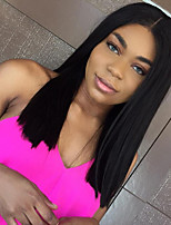 Short Bob Straight Lace Front Wigs Human Hair Wigs For Women Brazilian Remy Hair Lace Front Human Hair Wigs Bleached Knots