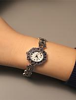 Women's Fashion Watch Quartz Alloy Band Sparkle Silver
