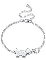 Women's Anklet/Bracelet Silver Plated Alloy Natural Friendship Gothic Fashion Vintage Bohemian Punk Hip-Hop Rock Circle Geometric Jewelry