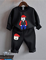 Boys' Cartoon Sets,Cotton Polyester Spring Fall Long Sleeve Clothing Set