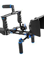 andoer d221 aleación de aluminio videocámara videocámara videocámara kit sistema de fabricación de películas con almohadilla de la jaula