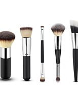 5PCS Contour Brush Makeup Brush Set Blush Brush Eyeshadow Brush Brow Brush Concealer Brush Powder Brush Foundation Brush Synthetic Hair