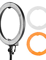 andoer rl-680s 18.9 / 48cm 55w dimmable 5500k lámpara video llevada macro de la luz del anillo 240pcs granos w / white filtro anaranjado