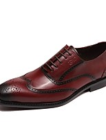 Men's Oxfords Driving Shoes Formal Shoes Spring Fall Real Leather Cowhide Nappa Leather Office & Career Party & Evening Lace-up Flat Heel