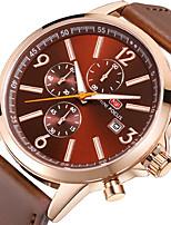 Hombre Reloj Deportivo Reloj de Moda Reloj de Pulsera Reloj creativo único Reloj Casual Japonés Cuarzo Cronógrafo Cronómetro Cuero
