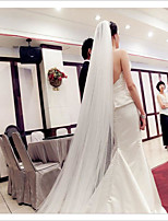 Wedding Veil Two-tier Blusher Veils Elbow Veils Cathedral Veils Cut Edge Tulle
