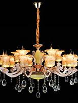 Alliage léger en alliage de zinc caractéristique pour cristal mini style métal en intérieur couloir magasins / cafés 15 bulbes