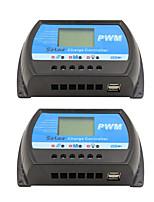 Regulador solar del pwm del lcd del regulador de la carga y de la descarga del panel solar de rtd-30a 12v 24v de 2pcs rv-30a para el