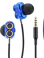 Qilian Q2 In Ear Wired Headphones Dynamic Aluminum Alloy Pro Audio Earphone Noise-isolating with Microphone with Volume Control HIFI