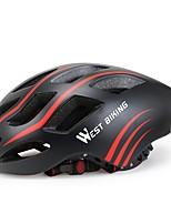 West biking Муж. Жен. Велоспорт шлем 17 Вентиляционные клапаны Велоспорт Велосипедный спорт Катание на лыжах Велоспорт М: 55-58CM