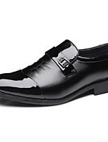 Для мужчин Свадебная обувь Формальная обувь Осень Зима Полиуретан Свадьба Черный На плоской подошве