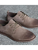 Men's Shoes Nubuck leather Spring Fall Comfort Light Soles Oxfords For Casual Khaki Camel Black
