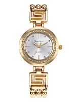 Mujer Reloj Esqueleto Reloj de Moda Simulado Diamante Reloj Chino Cuarzo Aleación Banda Casual Plata Dorado
