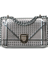 Women Bags All Seasons PU Shoulder Bag with for Casual Black Silver Blushing Pink
