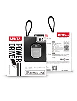 MIXZA MFI Certification IU-007 For iPhone OTG USB Flash Drives 64GB For IPhone/Ipod/ipad Air/ipad Mini/Mac