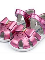 Девочки Сандалии Удобная обувь Лето Кожа Повседневные Золотой Розовый На плоской подошве
