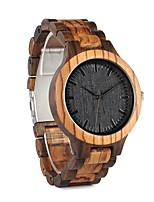 Муж. Жен. Модные часы Наручные часы Часы Дерево Японский Кварцевый Секундомер Защита от влаги Крупный циферблат Дерево Группа Винтаж