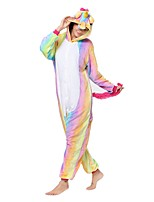 Kigurumi Pajamas Unicorn Leotard/Onesie Festival/Holiday Animal Sleepwear Halloween Pink Animal Flannel Kigurumi For Unisex Halloween