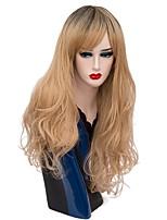 Mujer Pelucas sintéticas Sin Tapa Largo Produndo Lino Pelo Ombre Peluca de Halloween Las pelucas del traje