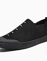 Для мужчин Мокасины и Свитер Удобная обувь Весна Лето Ткань Повседневные Черный Серый На плоской подошве