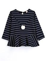 Girls' Stripes Blouse,Cotton Fall Long Sleeve Long