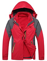 Men's Cycling Jacket Windproof Rain-Proof Wearable Breathability Full Length Visible Zipper Winter Jacket 3-in-1 Jackets Tops for Camping
