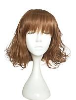 Mujer Pelucas sintéticas Sin Tapa Corto Marino Marrón oscuro / castaño medio Peluca de Halloween Peluca de cosplay Peluca natural Peluca