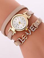 Жен. Модные часы Часы-браслет Кварцевый PU Группа Cool Повседневная Черный Белый Коричневый Бежевый