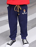 Boys' Embroidered Pants-Rayon Spring Fall