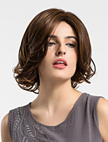 Women Synthetic Wig Capless Medium Natural Wave Medium Brown/Dark Auburn Middle Part Natural Wigs Costume Wigss