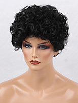 Women Synthetic Wig Capless Short Curly Black African American Wig For Black Women Natural Wigs Costume Wigss