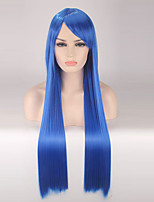 Women Synthetic Wig Capless Long Straight Royal Blue Cosplay Wigs Costume Wig