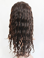 Women Human Hair Lace Wig Silk Base Full Lace Full Lace Wigs 120% Density With Baby Hair Curly Wigs Brazilian Hair Black Medium For Black