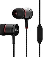 NE750M No ouvido EARBUD Com Fio Fones Dinâmico Aluminum Alloy Celular Fone de ouvido Isolamento de ruído Com Microfone HI FI Fone de