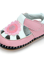 Girls' Sandals Comfort First Walkers Summer Cowhide Casual Blushing Pink Red White Flat