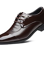 Men's Shoes Leatherette Fall Winter Comfort Formal Shoes Oxfords Split Joint For Casual Black Brown
