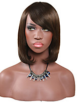 Women Synthetic Wig Capless Short Straight Brown For Black Women Lolita Wig Party Wig Halloween Wig Carnival Wig Cosplay Wig Natural Wigs