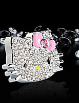автомобильный воздухозаборник решетка духи hellokitty кот вентиляционные отверстия (серебро) цинковый сплав материал автомобильный