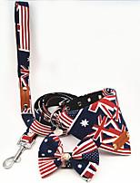 Collar Leash Portable Breathable Adjustable Safety Flag British Fabric