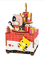 Music Box Cartoon Wooden