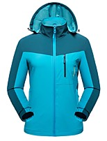 Women's Cycling Jacket Windproof Wearable Stretchy Breathability Full Length Visible Zipper Winter Jacket Top for Camping / Hiking