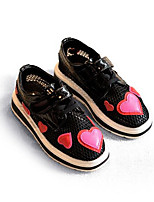 Girls' Sneakers Comfort Summer Tulle Casual Black White Flat