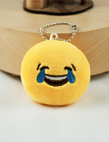 New Arrival Cute Emoji Laugh to Tears Key Chain Plush Toy Gift Bag Pendant
