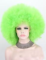 жен. Парики из искусственных волос Без шапочки-основы Короткий Кудрявые Зеленый Стрижка боб Парик для Хэллоуина Карнавальные парики