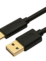 USB 2.0 Cable, USB 2.0 to USB 3.1 Tipo C Cable Macho - Macho 2,0 m (6.5 pies) 10 Gbps