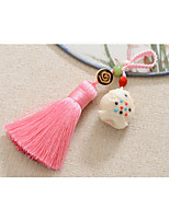 sac / téléphone / porte-clés charme cristal / strass style gland polyester tagua nut style chinois 11.5cm